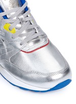 'Ventilator Gundam' metallic leather sneakers