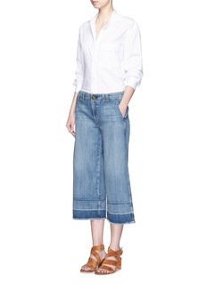 CURRENT/ELLIOTT'The Cropped Hampden' frayed cuff jeans