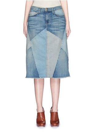 Main View - Click To Enlarge - Current/Elliott - 'The Patchwork Skirt' denim skirt