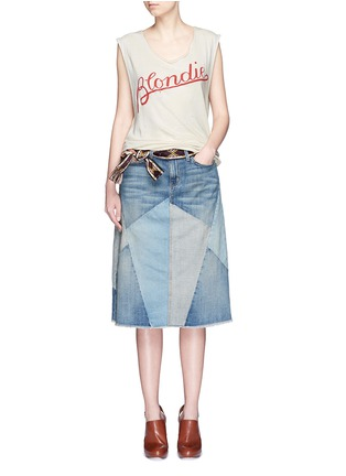 Figure View - Click To Enlarge - Current/Elliott - 'The Patchwork Skirt' denim skirt