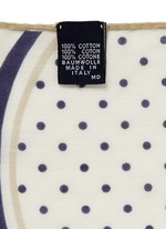 Circle and polka dot print cotton pocket square