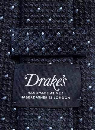 Detail View - Click To Enlarge - Drake's - Dot stitching silk grenadine tie