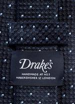 Dot stitching silk grenadine tie