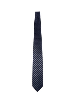 Main View - Click To Enlarge - Drake's - Dot stitching silk grenadine tie