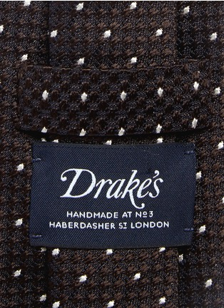 Detail View - Click To Enlarge - Drake ' S - Dot stitching silk grenadine tie