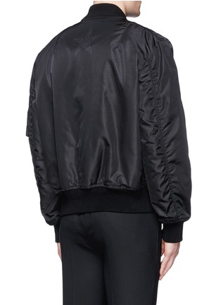 Back View - Click To Enlarge - Givenchy - Barb wire Jesus print padded bomber jacket