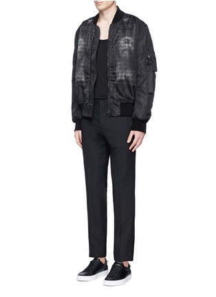 Figure View - Click To Enlarge - Givenchy - Barb wire Jesus print padded bomber jacket
