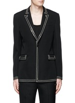 Curb chain piping virgin wool blazer