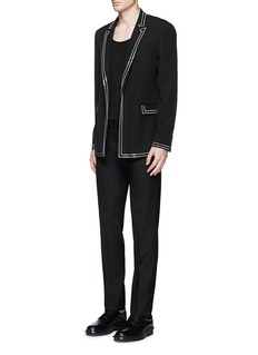 Givenchy Curb chain piping virgin wool blazer