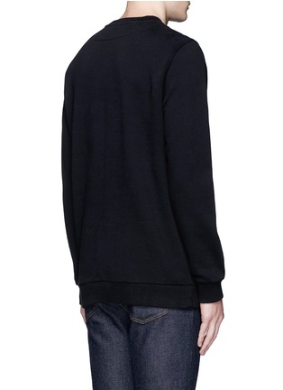 Back View - Click To Enlarge - Givenchy - Jesus print cotton sweatshirt
