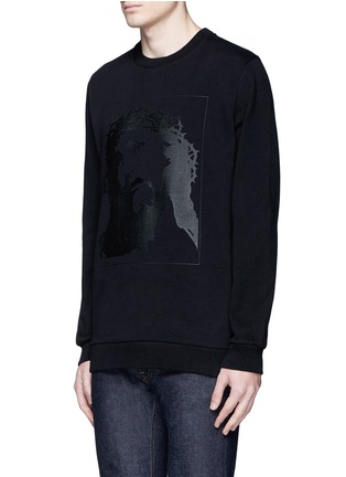 Front View - Click To Enlarge - Givenchy - Jesus print cotton sweatshirt