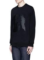Jesus print cotton sweatshirt