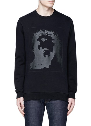 Main View - Click To Enlarge - Givenchy - Jesus print cotton sweatshirt