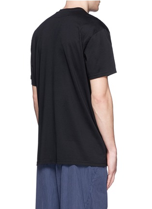 Back View - Click To Enlarge - Givenchy - Jesus embroidery appliqué T-shirt