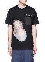 Jesus embroidery appliqué T-shirt