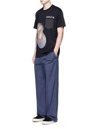 Figure View - Click To Enlarge - Givenchy - Jesus embroidery appliqué T-shirt