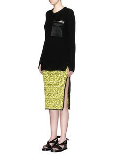 RAG & BONE'Greer Army' contrast pocket sweater