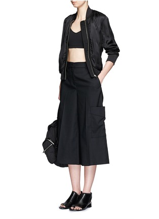 模特儿示范图 - 点击放大 - rag & bone - ELLIS羊毛七分长阔腿裤