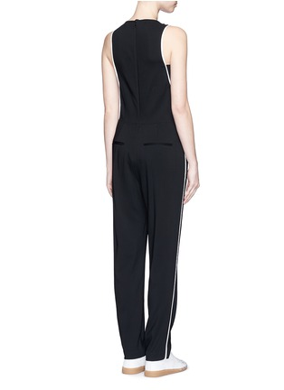 Back View - Click To Enlarge - rag & bone - 'Luna' contrast seam jumpsuit