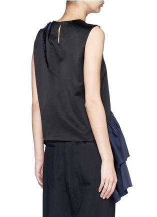 Back View - Click To Enlarge - Dries Van Noten - 'Clara Bis' asymmetric ruffle sleeveless top