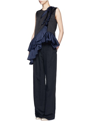 Figure View - Click To Enlarge - Dries Van Noten - 'Clara Bis' asymmetric ruffle sleeveless top