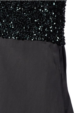 Detail View - Click To Enlarge - Dries Van Noten - 'Dal' sequin embellished sateen cami dress