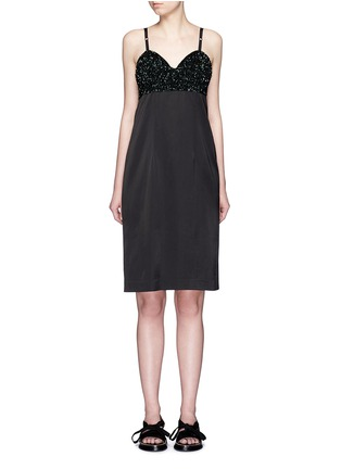 Main View - Click To Enlarge - Dries Van Noten - 'Dal' sequin embellished sateen cami dress