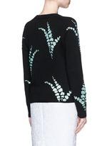 'Jackleen' leaf sequin cashmere sweater