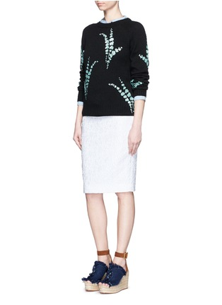 Figure View - Click To Enlarge - Dries Van Noten - 'Jackleen' leaf sequin cashmere sweater