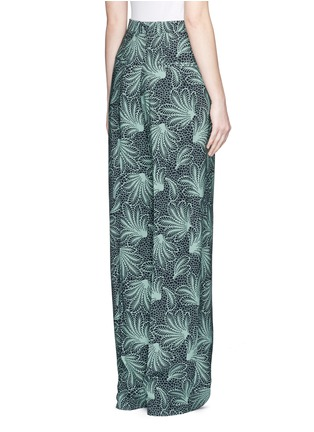 Dries Van Noten-'Page' floral print wide leg crepe pants