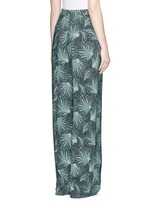 'Page' floral print wide leg crepe pants