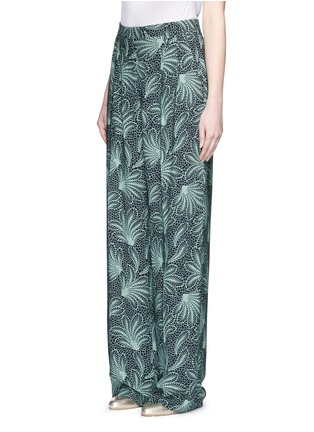 Front View - Click To Enlarge - Dries Van Noten - 'Page' floral print wide leg crepe pants