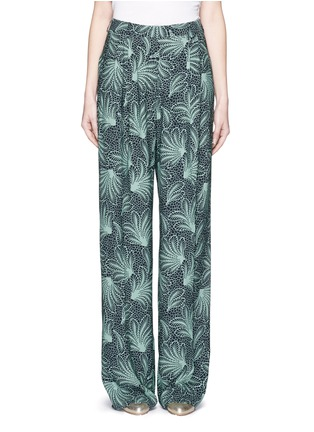 Main View - Click To Enlarge - Dries Van Noten - 'Page' floral print wide leg crepe pants