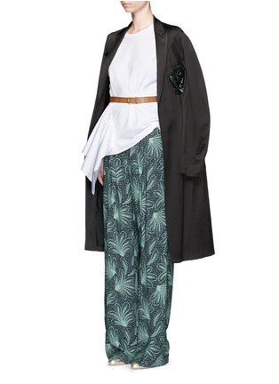 Figure View - Click To Enlarge - Dries Van Noten - 'Page' floral print wide leg crepe pants