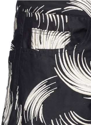 Detail View - Click To Enlarge - Dries Van Noten - 'Picabo' firework jacquard shorts