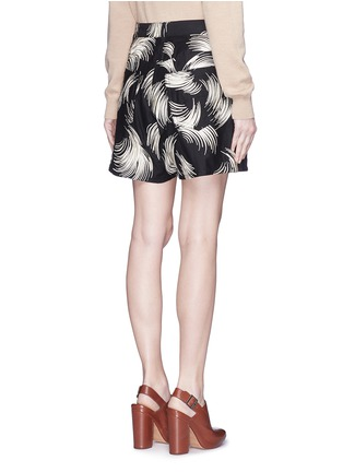 Back View - Click To Enlarge - Dries Van Noten - 'Picabo' firework jacquard shorts