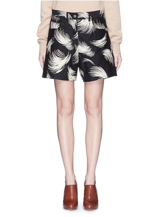 Main View - Click To Enlarge - Dries Van Noten - 'Picabo' firework jacquard shorts