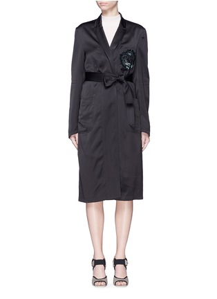 Main View - Click To Enlarge - Dries Van Noten - 'Rella' sequin embroidery pocket satin coat