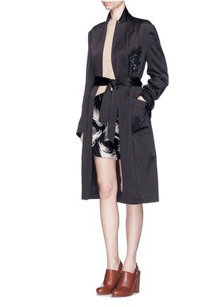 Figure View - Click To Enlarge - Dries Van Noten - 'Rella' sequin embroidery pocket satin coat