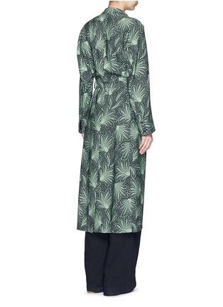 Back View - Click To Enlarge - Dries Van Noten - 'Rella Long' leaf print coat