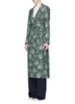 'Rella Long' leaf print coat