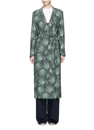 Main View - Click To Enlarge - Dries Van Noten - 'Rella Long' leaf print coat