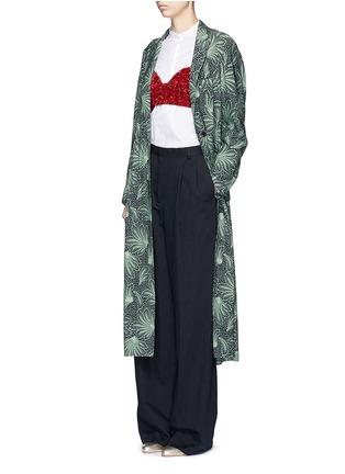 Figure View - Click To Enlarge - Dries Van Noten - 'Rella Long' leaf print coat