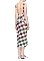 Bounce gingham check patchwork open back dress