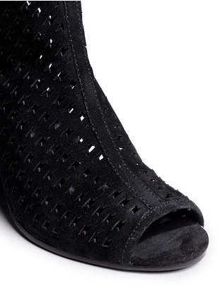 Detail View - Click To Enlarge - Ash - 'Flash' lightning bolt perforated suede ankle boots