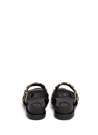 Back View - Click To Enlarge - Ash - 'Stone' embellished leather slingback sandals