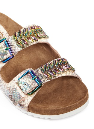 Detail View - Click To Enlarge - Ash - 'Ulysse' snakeskin effect leather sandals