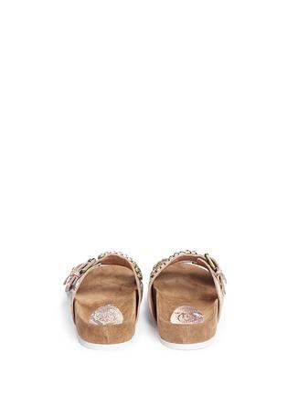 Back View - Click To Enlarge - Ash - 'Ulysse' snakeskin effect leather sandals