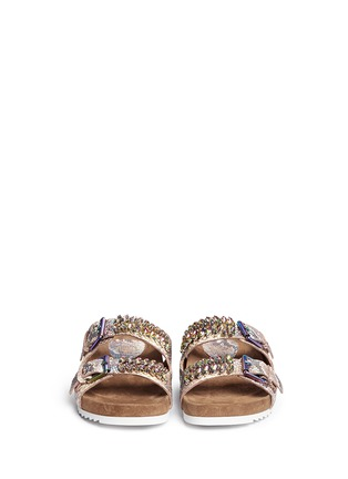 Front View - Click To Enlarge - Ash - 'Ulysse' snakeskin effect leather sandals