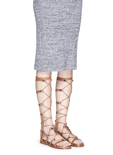ASH'Miracle' stud knee high leather gladiator sandals